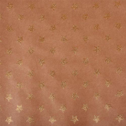 Paper Kraft 30,5x30,5cm. Estrellas oro