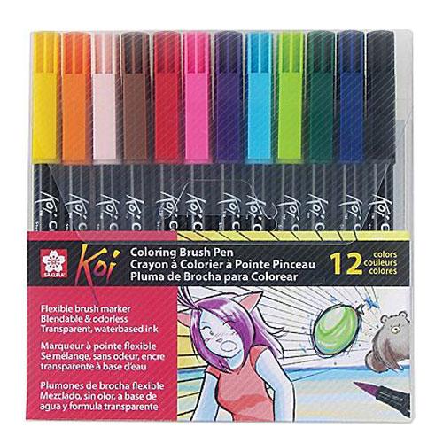 Estuche 12 Coloring Brush rotulador punta pincel