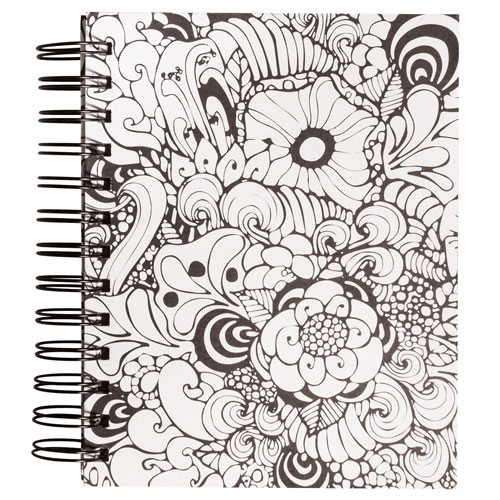 Memory Journal blanco Tangle Orquidia 15,5x18 cm