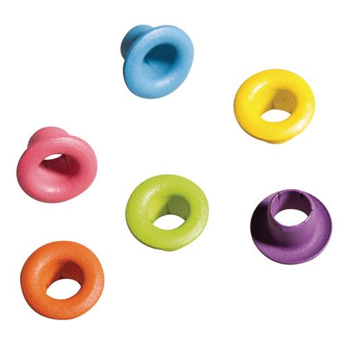 50 Eyelets Redondos 8 mm. Pastel