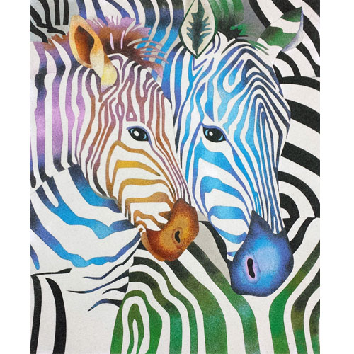 Zebras de colores. 2 medidas disponibles