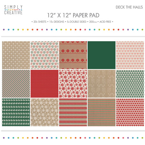 20 papeles 30,5 x 30,5 cm. Deck the Hall