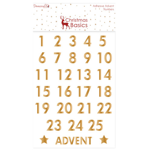 Advent Numbers Gold Christmas Basics