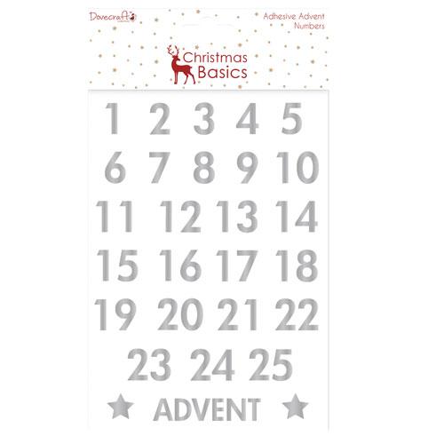 Advent Numbers Silber Christmas Basics