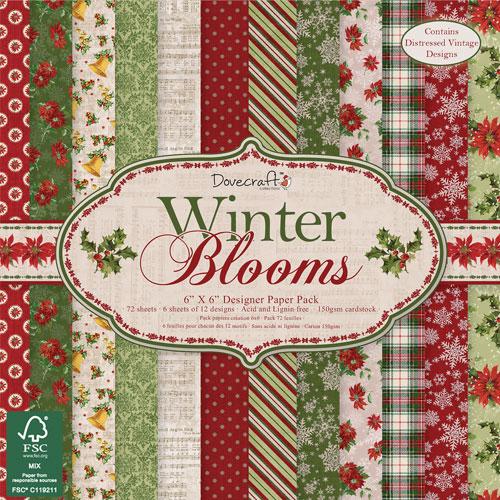 72 papeles 15,2 x 15,2 cm. Winter Blooms