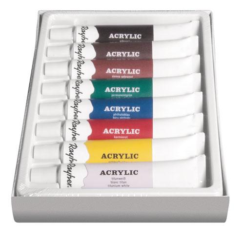 Estuche 8 pinturas acrílicas tubo 12 ml