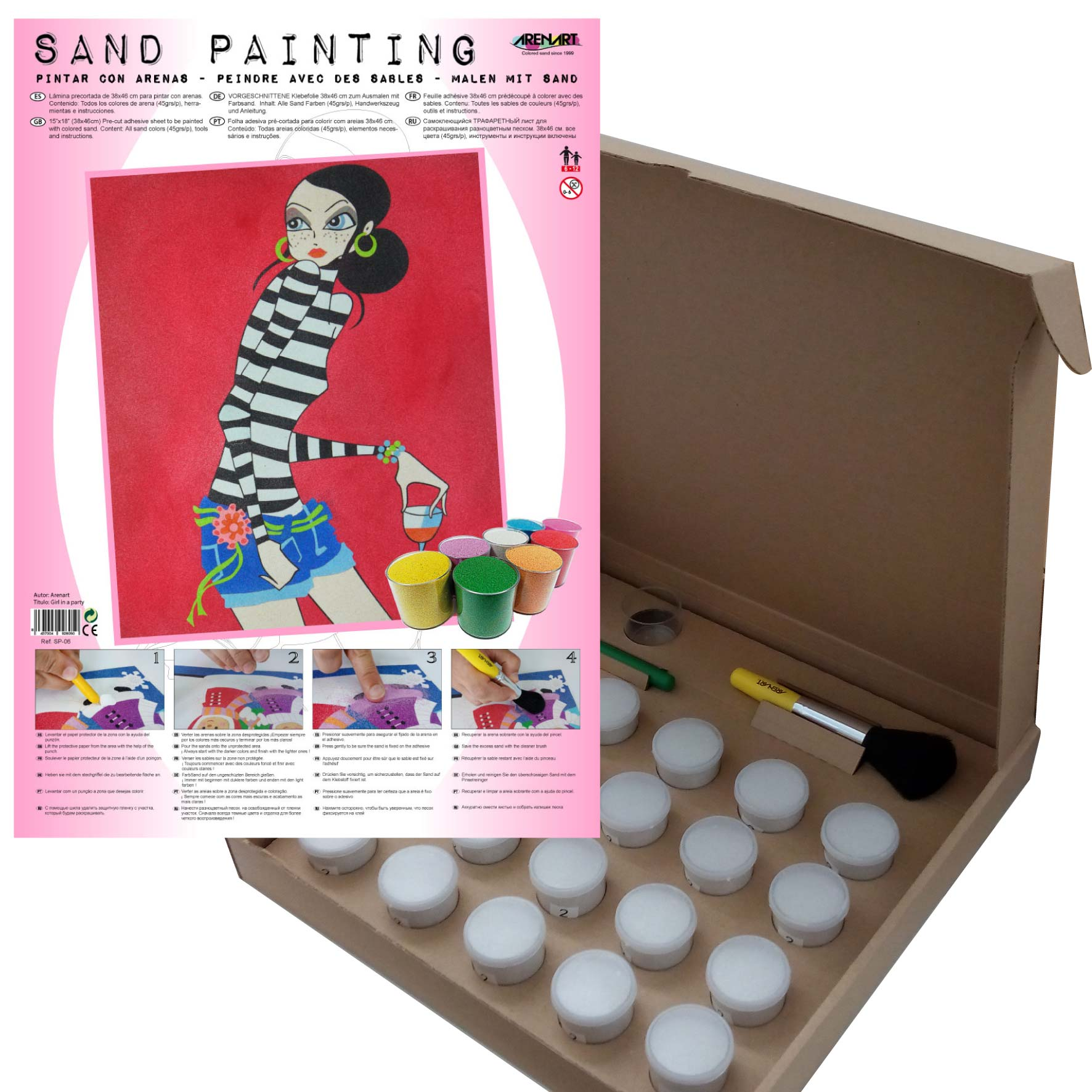 Sand Painting Girl in a Party