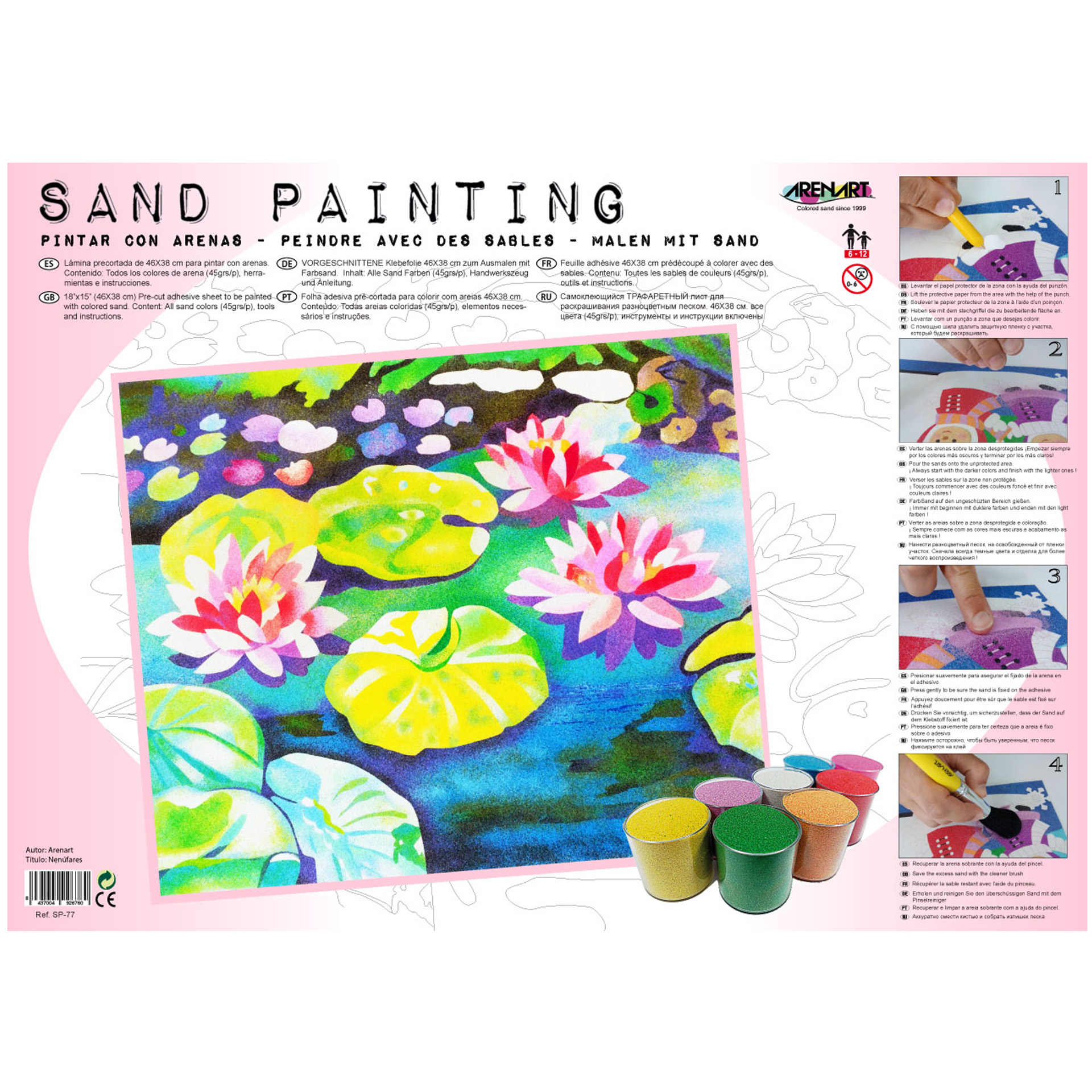 Sand Painting Nenufares