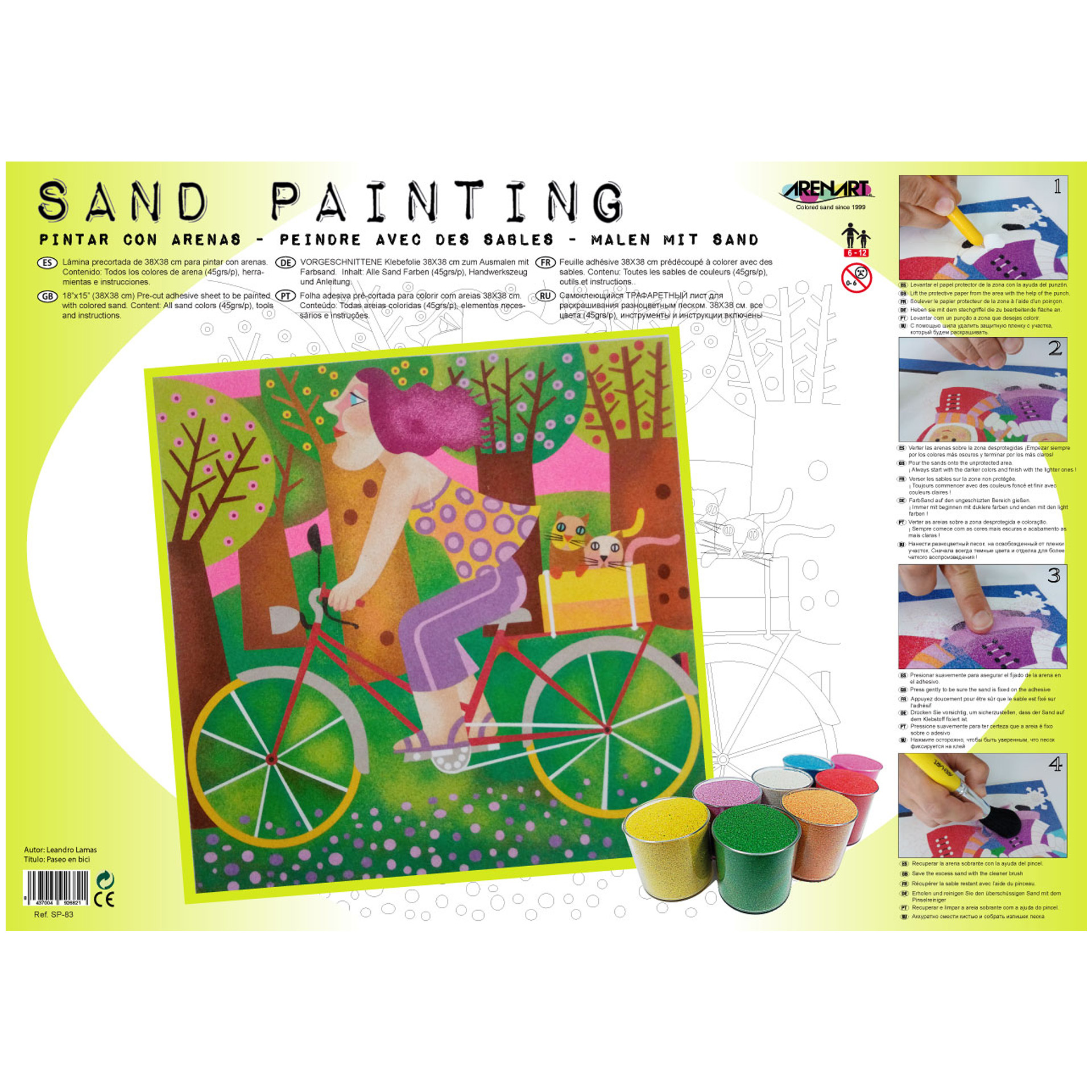 Sand Painting Paseo en Bici