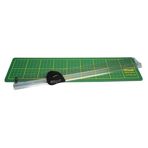 Base de corte, regla y cuter rotatorio. 38 cm