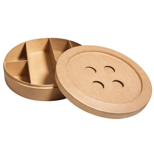 Caja boton de carton 24,5x24,5x6 cm