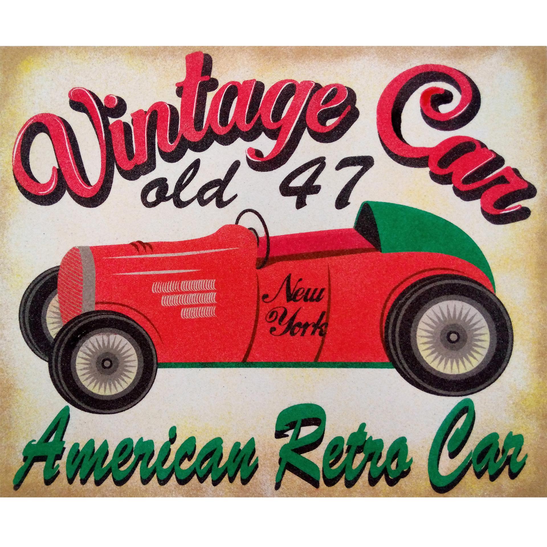 Vintage Car Old 47. 2 medidas disponibles