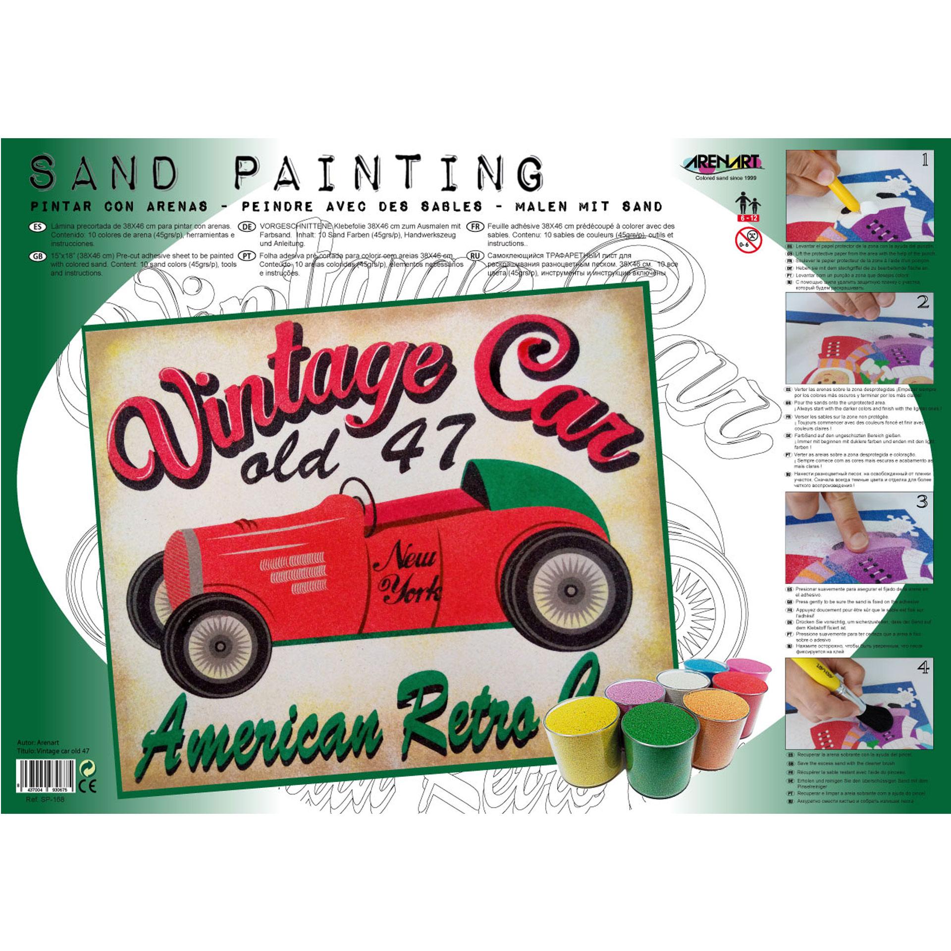 Sand Painting Vintage Car Old 47