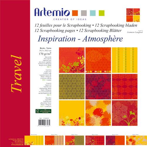 Bloc 12 hojas 30,5x30,5 cm. Travel