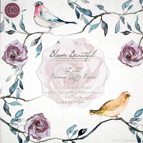 40 papeles 30,5 x 30,5 cm. Bloom Beautiful