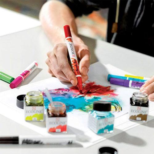 Set 10 rotuladores Ecoline Brush Pen