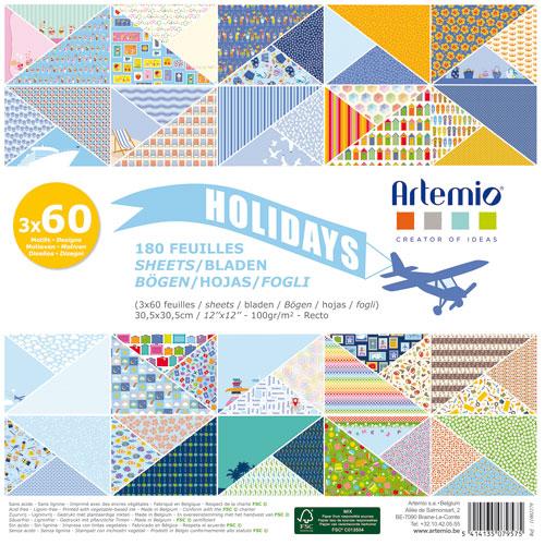 180 papeles 30,5 x 30,5 cm. Holidays