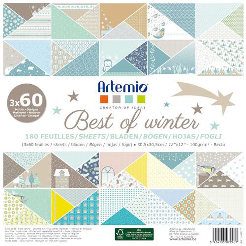 180 papeles 30,5 x 30,5 cm. Best of Winter