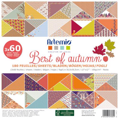 180 papeles 30,5 x 30,5 cm. Best of Autumn