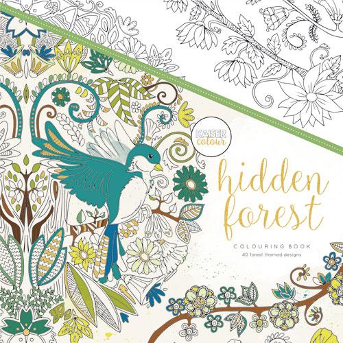 Hidden Forest 25x25 cm. 40 hojas predibujadas