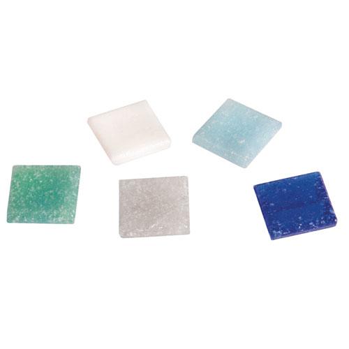 Teselas resina tonos azules 2x2cm 325 pzas