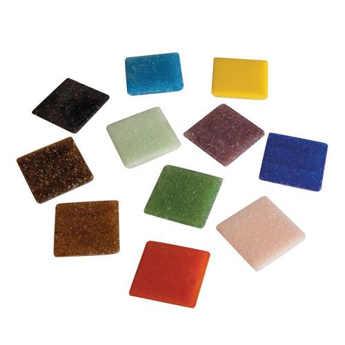 Teselas resina tonos mezclados 2x2cm 325 pzas