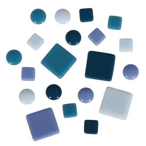 Teselas Fancy Glass Azules 1 y 2 cm 395 ut.