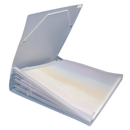 Archivador papeles 7 compartimentos 30x30 cm