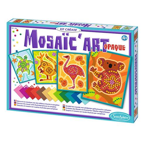 Mosaico art opaque animales de australia