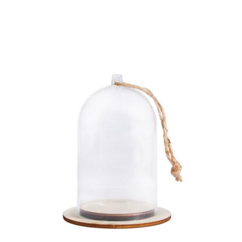 Cloche de plástico con base Ø 6 cm