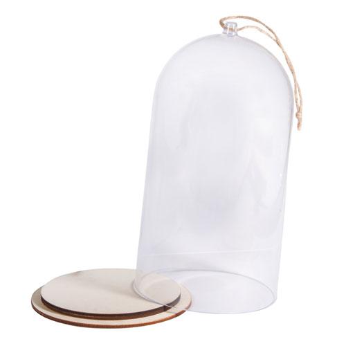 Cloche de plástico con base Ø 12 cm