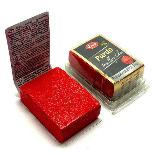 Pardo Jewellery Clay 11 colores GLITER pastilla 60 gr