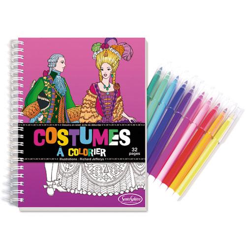 Cuaderno de vestidos colorear con rotuladores