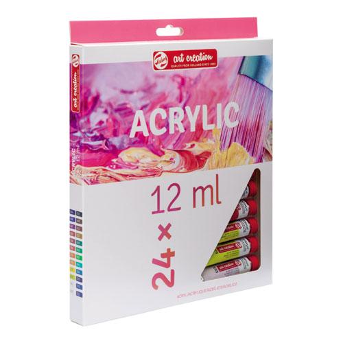 Estuche acrilico 24 tubos Art Creation 12 ml