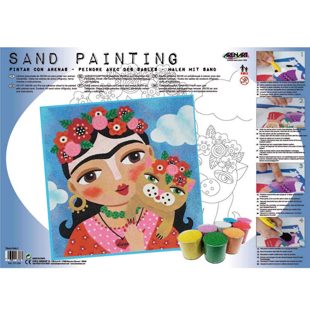 Sand Painting Frida Kahlo 2