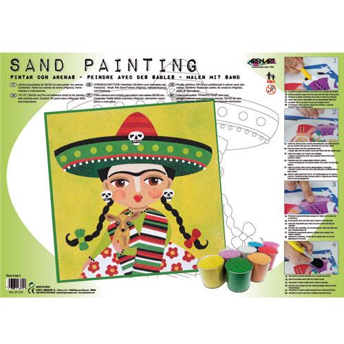 Sand Painting Frida Kahlo 3