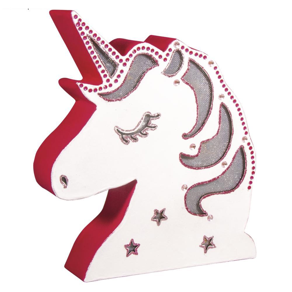 Lampara unicornio 17x20x4cm