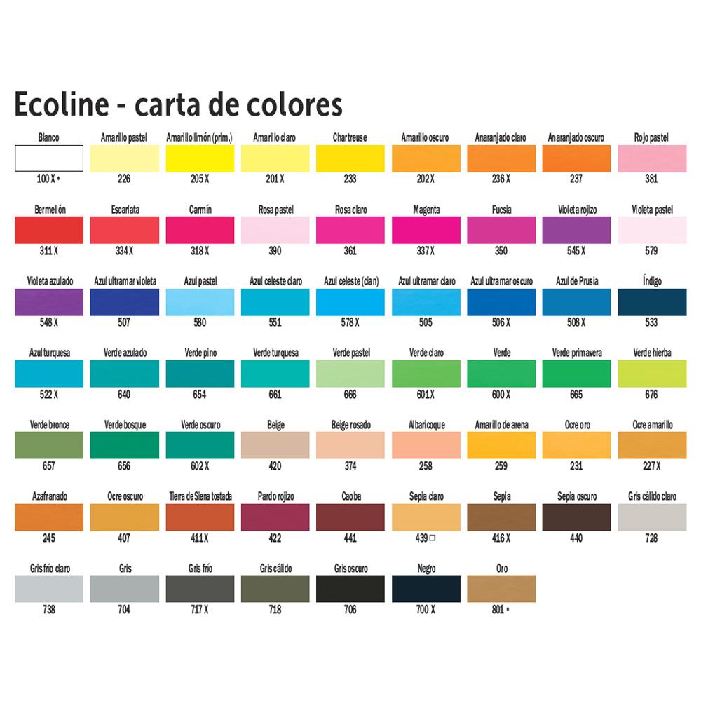 Rotulador de acuarela Brush Pen Ecoline. 59 colores
