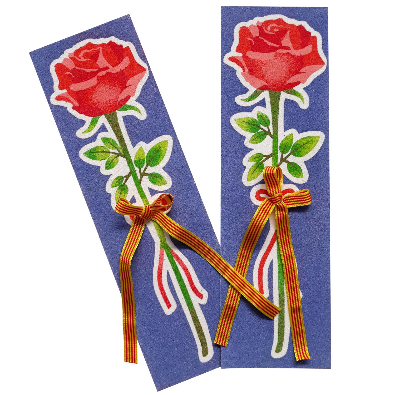 Kit pinta con arenas Rosa Sant Jordi lazo verde