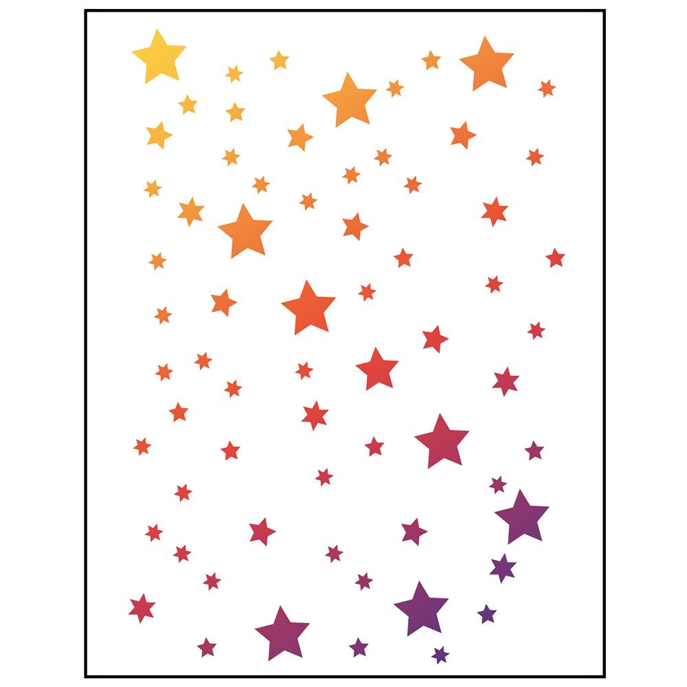 Stencil 21x29,7 cm. Estrellas