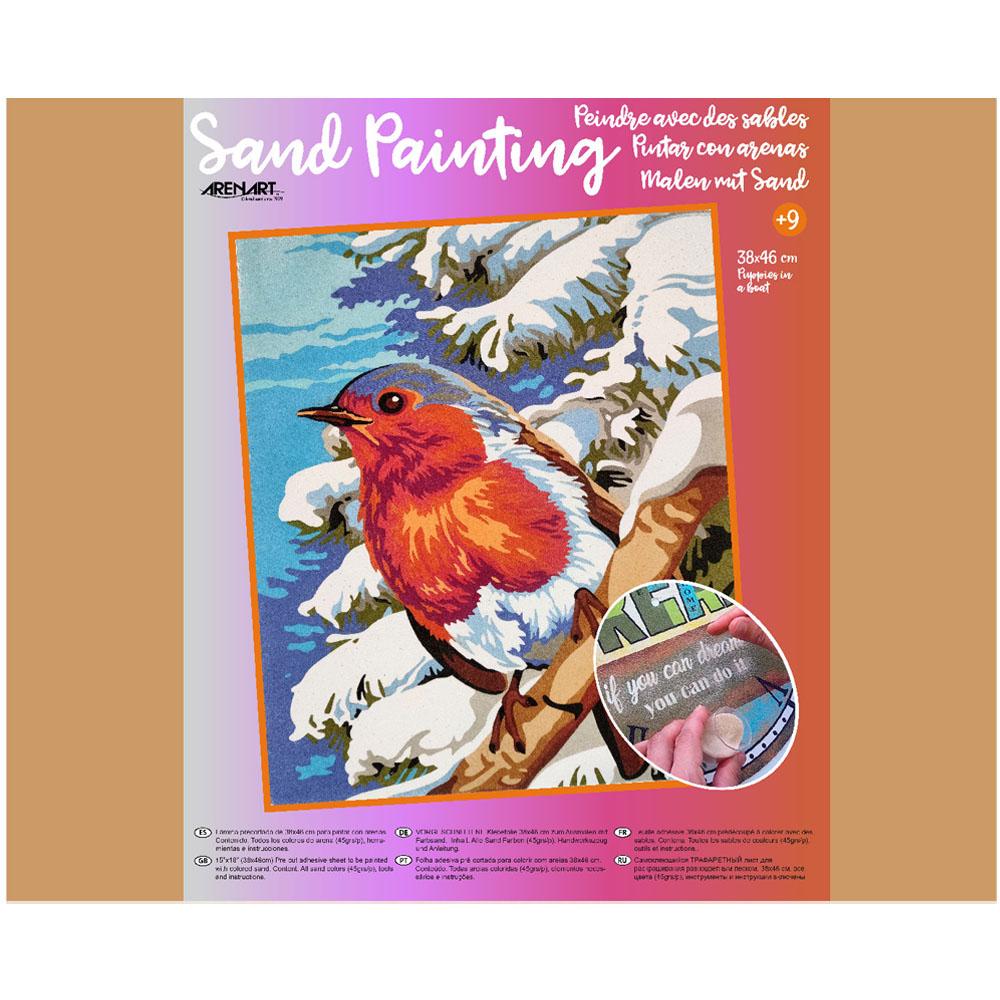 Sand Painting Pájaro de Invierno