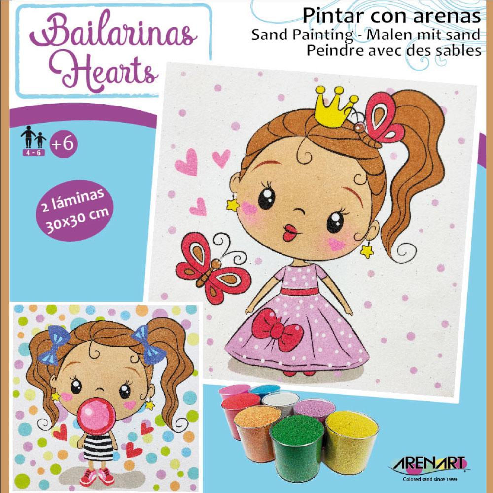 Pintar con arenas Princesas Corazones