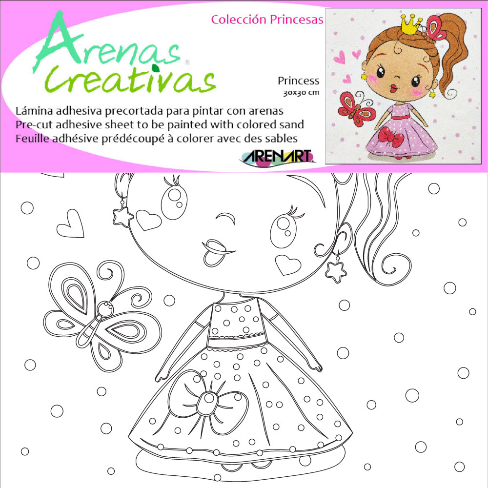 Lámina Princesa. 3 medidas disponibles