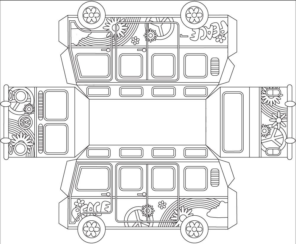Pintar con arenas Furgo Volkswagen 3D 25x11x14 cm