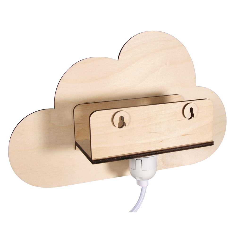 Lámpara Nube de madera  31x18,5x7,5 cm