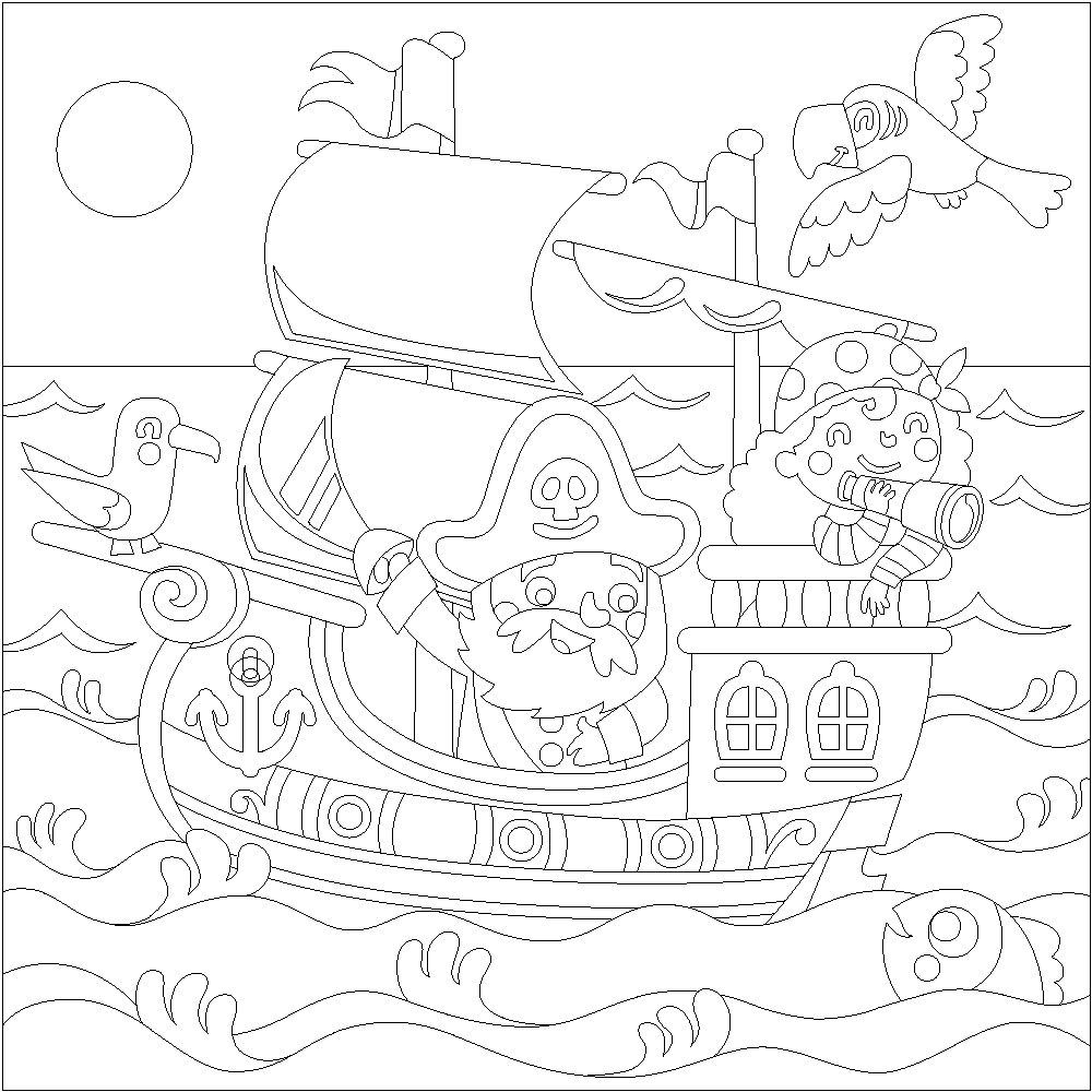 Pintar con arenas Piratas
