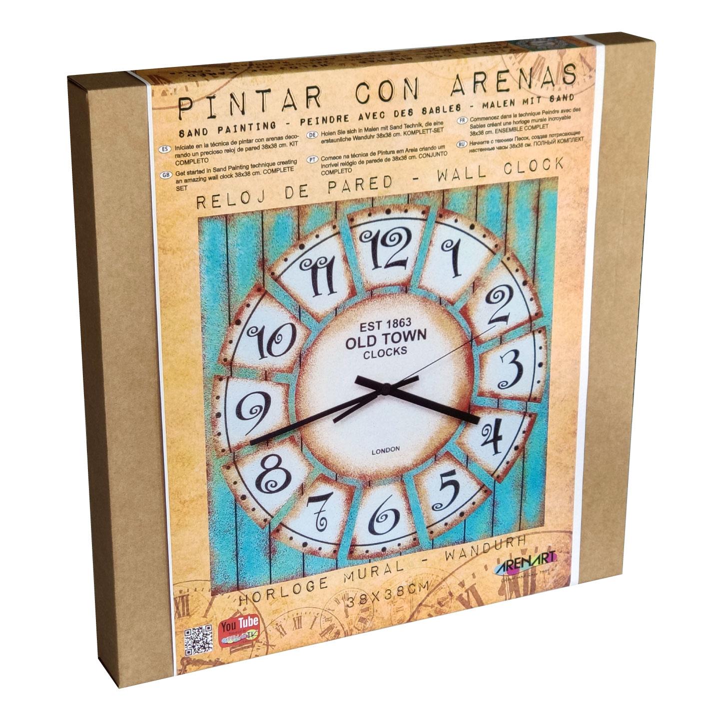 Set Pinta Reloj Pared con arenas. Old Town 1863