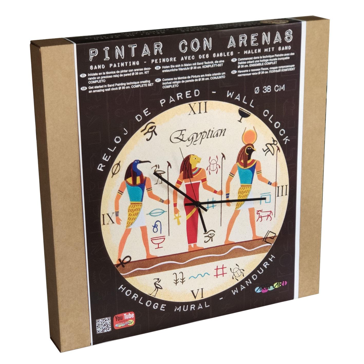Set Pinta Reloj Pared con arenas. Egyptian
