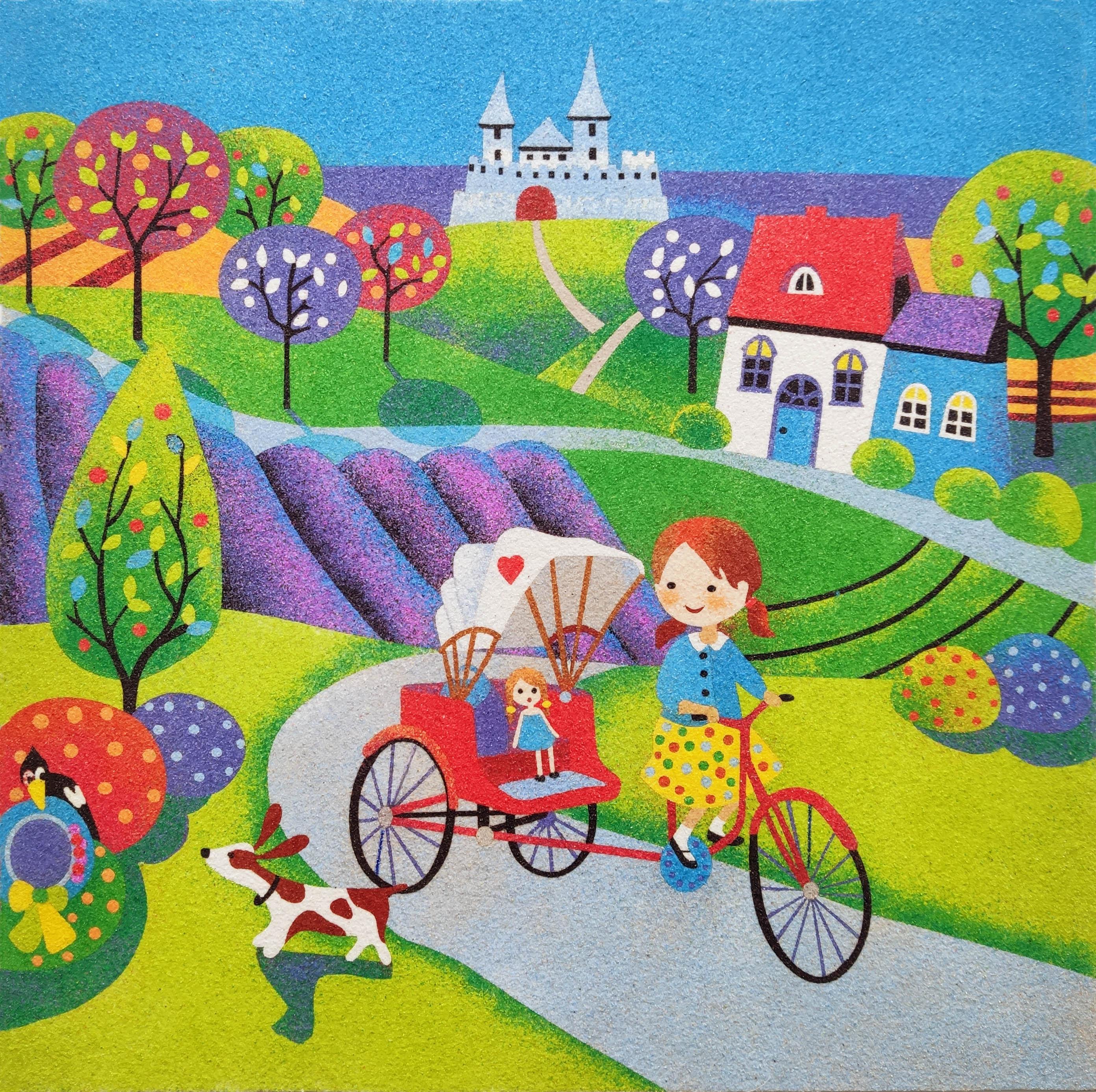 Pintar con arenas Bici Carrito 38x38 cm