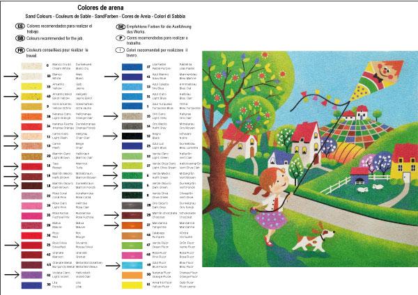 Pintar con arenas La Cometa 38x38 cm